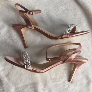BADGLEY MISCHKA Jewel Heels, 8, New